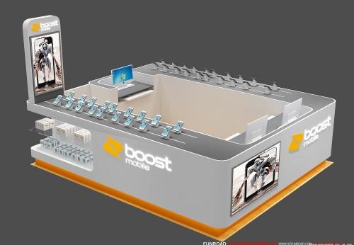 手机维修亭设计电话配件商场展柜