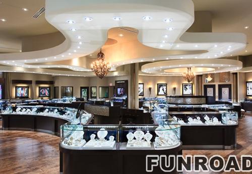 时尚高端设计的珠宝店展柜效果图