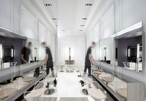 透明亚克力中高端美容美发沙龙设备制作