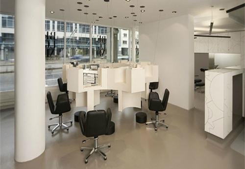 美发沙龙发廊洗头椅胶合板展柜家具