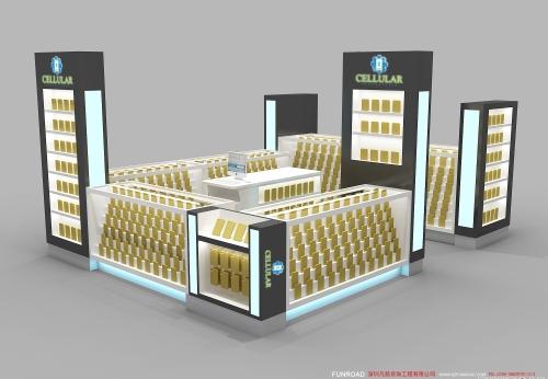 商场手机配件手机壳展示亭