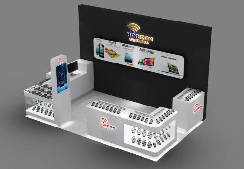 商场手机零售亭,手机展示亭
