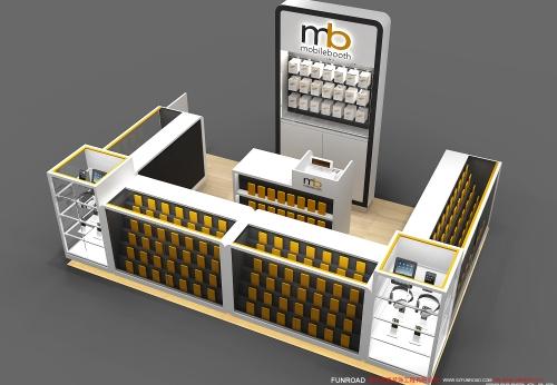 中高端商场手机配件和手机壳亭