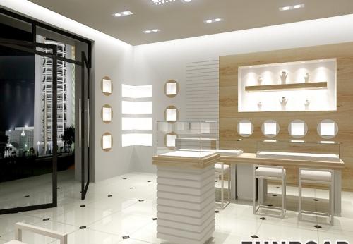 3D零售首饰店内珠宝展柜设计案例