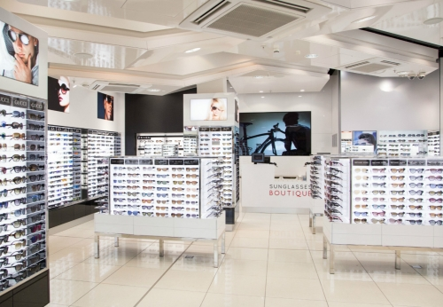 Factory Customized Middle End Sunglasses Display Cabinet And Showcase For  Sunglasses Hut Design