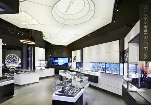 高端零售商店的商店内部设计柜台定做