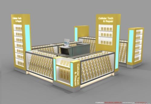 手机亭展示柜台设计效果图,厂家直营定做