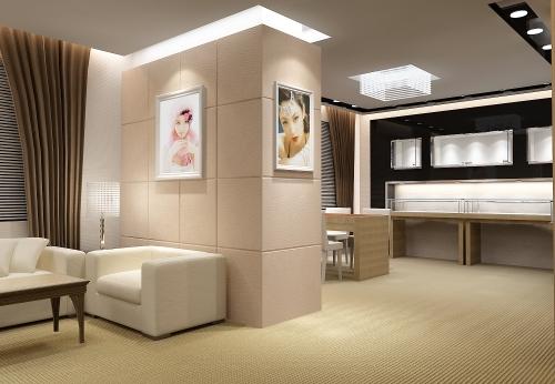 香港品牌奢饰品店定做珠宝展柜设计制作案例效果图