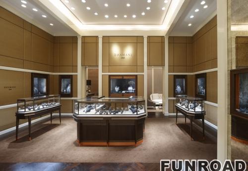 订制珠宝店门楣和珠宝展柜设计制作效果图