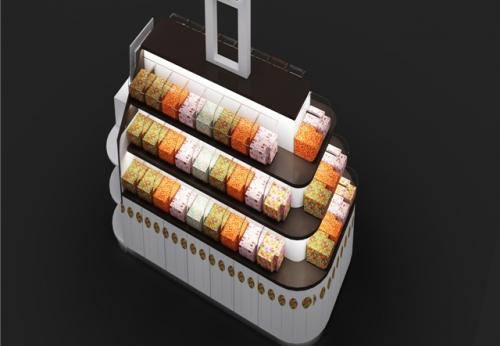 有机亚克力工艺面包糖果展示柜