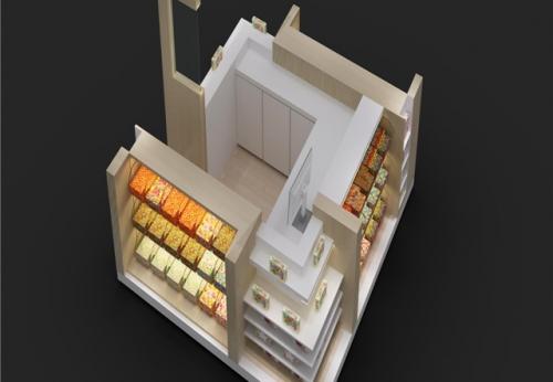 高质量的工厂直销制造糖果亭亭,展示柜效果图