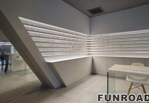 商业光学零售商店的创意橱窗展柜订制设计案例