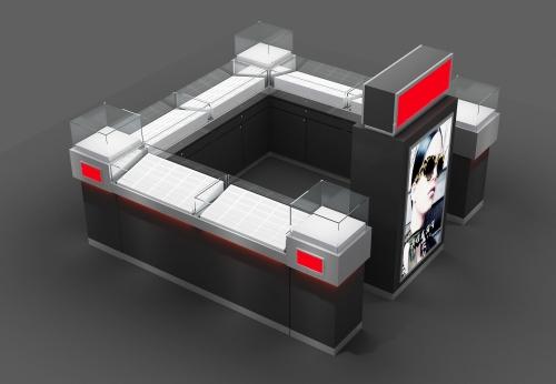 2018年太阳镜展示柜,中国制造的钢化玻璃展示柜台