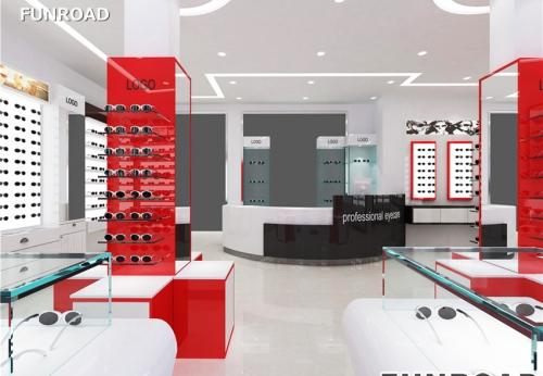 福路工厂商业光学商店陈列家具展示柜设计制作