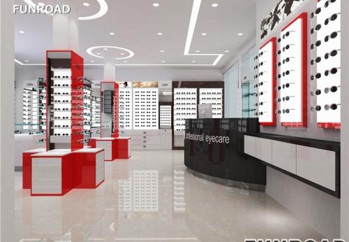 Funroad新定制的3D光学商店装饰展示柜设计制作