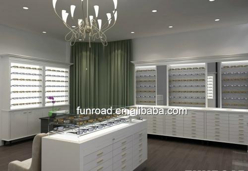 Funroad豪华光学商店展示柜台定做设计案例效果图