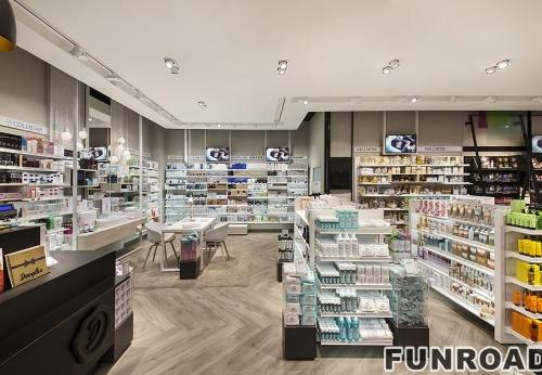 深圳专业化妆品展示柜,化妆品柜台定做设计案例效果图