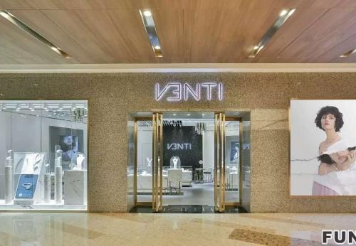 时尚轻奢品牌珠宝店-定制设计高端珠宝展示柜台案例