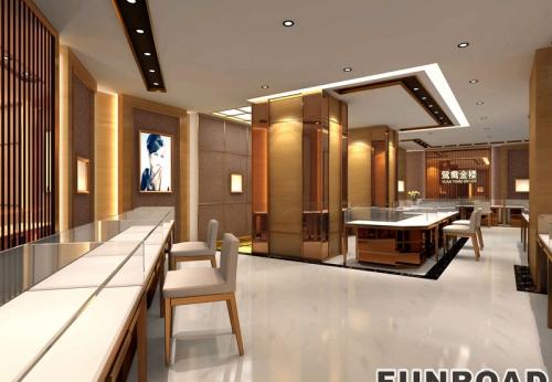 客户私人定制设计不锈钢珠宝展示柜制造展示案例效果图