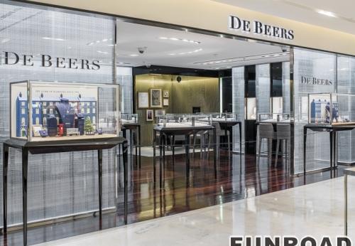 瑞士珠宝钟表店珠宝店室内柜台设计制作