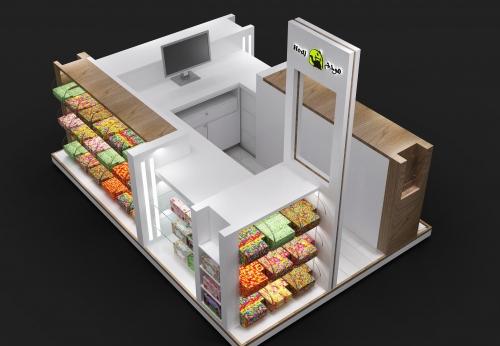 2018年定制糖果展示糖果盒,用于糖果店的展柜设计