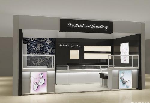 德百利品牌珠宝首饰店,为客户定制的珠宝展示柜设计案例