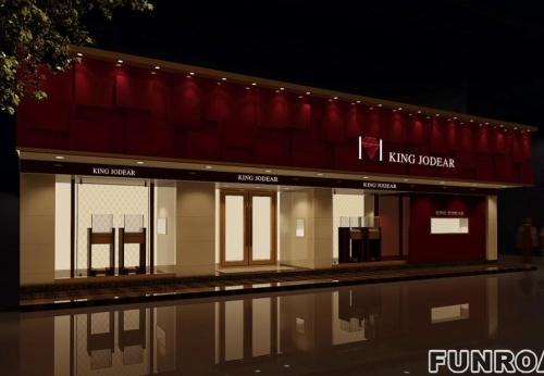 新欧式珠宝店整店设计以及珠宝展示柜定制
