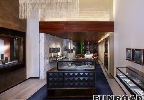 新设计欧式珠宝展示柜台案例,珠宝柜定制包设计