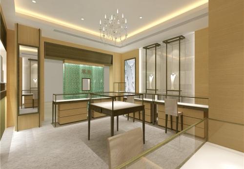 定制的3d渲染商店设计展示展示家具店配件珠宝陈列柜