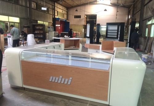 手机柜台设计配件商场售货亭展示柜