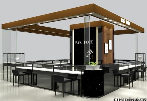 现代设计的oem/odm购物中心珠宝展示亭