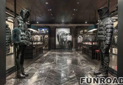 商场女装店高端服装展示柜设计