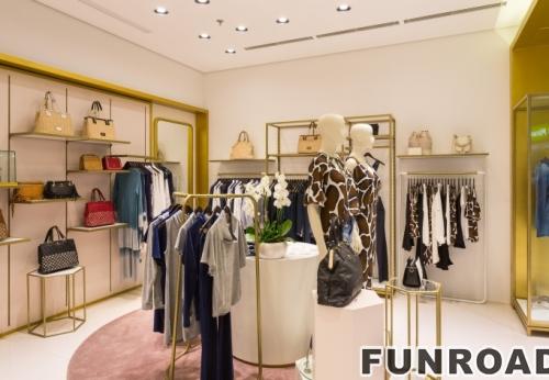 定制木漆自然色便携服装展示柜,价格优惠