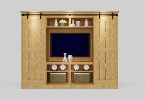 2018定制电视柜现代设计电视陈列柜与书架