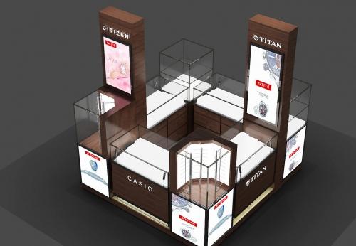 现代风格的手表店展柜零售商店展示柜