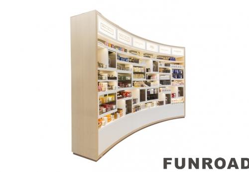 零售法式商店购物中心Kiosk现代LED设计香水店滑动玻璃Vitrine展示柜展示柜套装