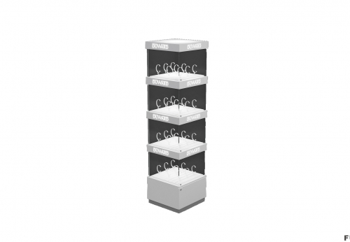 壁挂式手表现代玻璃Vitrine防火板木台面展示柜展示柜带灯