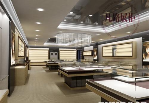 凡路深圳展柜定制,高端木质玻璃珠宝展柜