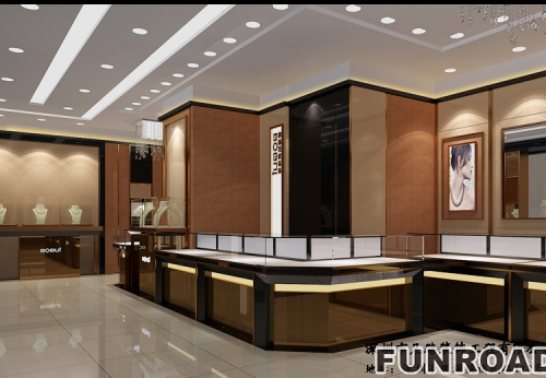 Jewelry Display Cabinet Factory Customized Jewelry Display Cabinet Effect  Drawing Complete