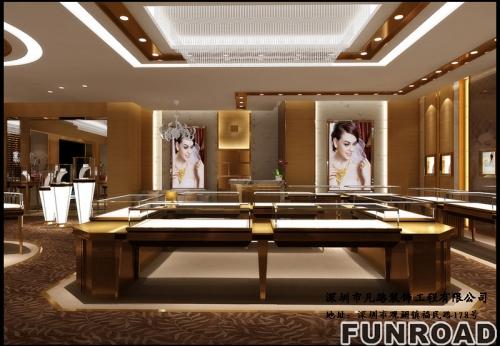 凡路展柜十五年,专业定制高端木质玻璃珠宝展柜