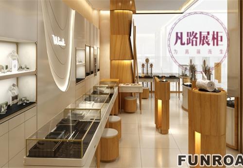 凡路珠宝展厂柜定制出,客户满意的展柜