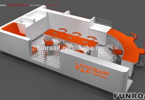 Laka售货亭为购物中心提供美甲桌