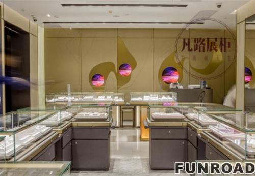 客户定制金属珠宝展示柜,顺利制作完工