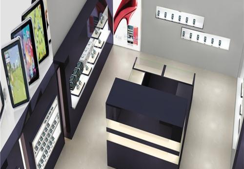 现代手机店设计展示台待售