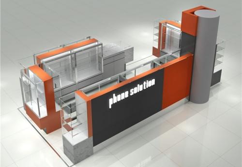 手机玻璃展示柜购物中心展柜亭