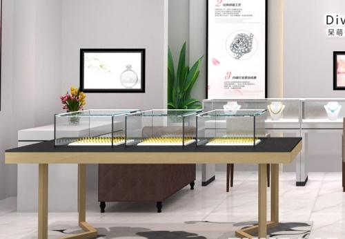 木制珠宝展柜陈列设计,2018年展柜厂定制