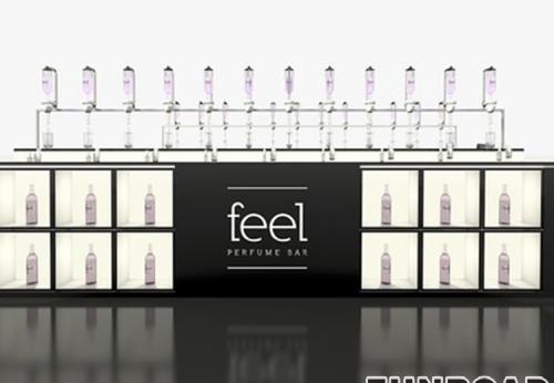 深圳展柜厂制作豪华香水售货亭出售,香水店的设计