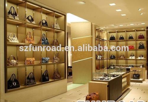现代风格的豪华手袋鞋展示柜与玻璃柜,展柜定制
