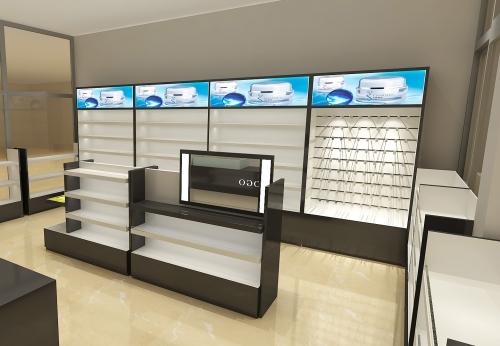 商业家具制作现代风格书籍 化妆品展示架