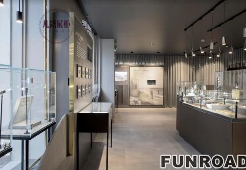 现代概念博物馆风格-珠宝展柜